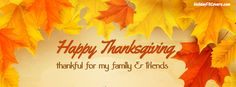 Happy Thanksgiving Thankful Family and Friends Facebook Cover HolidayFBCovers.com