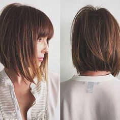 Inverted bob hairstyles still remains their popularity among women for long period. In this article, Super Inverted Bob Hairstyles are showcased for you. Inverted Bob Hairstyles, Bob Hairstyles With Bangs, Short Layered Haircuts, Short Hair With Bangs, Short Hair Cuts, Layered Cuts, Bob Hairstyles With Fringe Mid Length, Medium Bob With Bangs, Choppy Haircuts