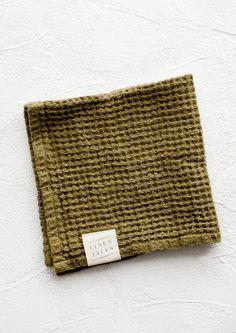 Waffle Linen Washcloth