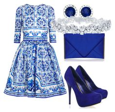 """""""A little blue"""" by akwen ❤ liked on Polyvore"""