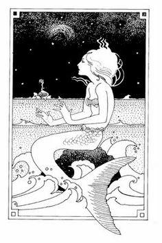 vintage mermaid tattoo