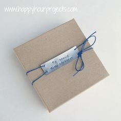 Hand-Stamped Gifts Tags with ImpressArt Metal Stamps