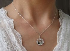 Hydrangea Sterling Silver Necklace by kikisan on Etsy, $38.00