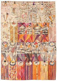 "TAPESTRY. ""Karneval"". Tapestry weave variant (gobelängvariant). 230 x 160,5 cm. Signed AB MMF MR. - Bukowskis"