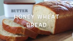 This honey wheat bread is made from a combination of whole wheat and white flour and is sweetened with honey. Soft and light, but sturdy enough to slice into sandwich bread. Makes 2 loaves. Best Honey Wheat Bread Recipe, Bread Recipe Video, English Muffin Bread, Homemade White Bread, Homemade Strawberry Jam, Yeast Rolls, Fresh Bread, Bread Baking, Food Videos