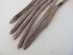 """12-13"""" Strong Drift Wood Dowels Weaving Sticks 6 Grey Driftwood Pieces DIY Small Weaving Wall Hanging On Drift Wood by LonelyBeach on Etsy"""