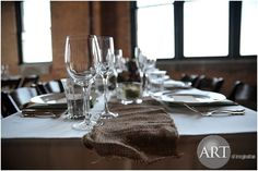 Beautiful natural table setting at Bridgeport Art Center Bridgeport Art Center, Event Planning, Wedding Planning, Chicago Wedding, Lighting Design, Wedding Events, Table Settings, How To Plan, Natural