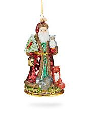 Just For You Woodland Santa Ornament