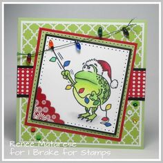 Della (@ibrakeforstamps) • Instagram photos and videos Christmas Cards, Xmas, Funny Frogs, Happy Saturday, Hanging Lights, Handmade Christmas, I Card, Birthday Cards, Stamps