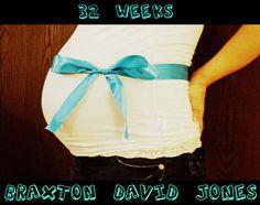 32 week baby bump photo!
