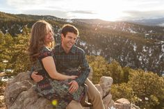 adventurous boulder engagement photos