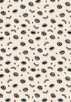 Creative Studio by Lonneke de Roos Eyes Wallpaper, Iphone Background Wallpaper, Print Wallpaper, Trendy Wallpaper, Pattern Wallpaper, Cute Wallpapers, Evil Eye Art, Pattern Art, Print Patterns