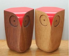 Matt Pugh's Wooden Owls from www.helpyourshelf.co.uk Really cool online shop with well selected ornaments, prints, books, kids stuff, generally lovely things!