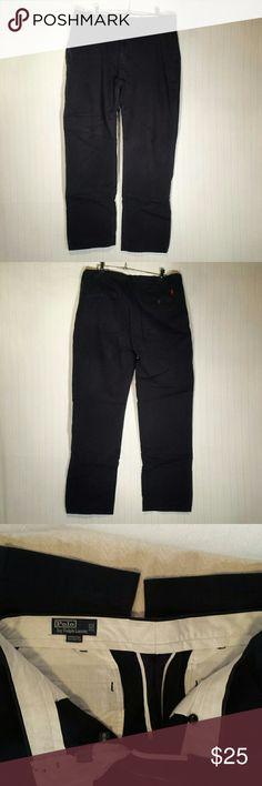 Polo by Ralph Lauren Suffield Navy Pants 100% Cotton.  Waist 36, Inseam 32. Polo by Ralph Lauren Pants Dress