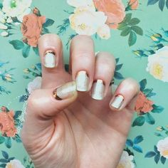 """Gold at the cuticles with a sheen lacquer. Jamberry wrap Copper Beauty and Jamberry lacquer Vintage Luxe  85 Likes, 33 Comments - Becky Beasley (@freckledfoxjams) on Instagram: """"Inspiration hit me hard last night! I've been so excited about our new copper tips and had seen a…"""""""