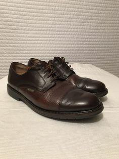 2e85184a9d Mephisto Mens Melchior Cap Toe Derby Oxford Shoes Dark Brown Leather Sz  10.5 M #fashion