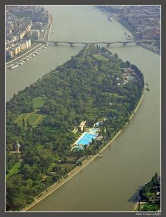 Margaret Island, a large inner city park in the middle of the Danube, Budapest, Hungary Places To Travel, Places To See, Capital Of Hungary, Heart Of Europe, Danube River, Park City, Beautiful Places, Around The Worlds, Island