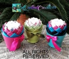 TUTORIAL, flower in a pot original pattern, no sew quilted flower or succulent, step by step instructions, DIY fabric flower Quilted Ornaments, Christmas Ornaments, Holiday Tables, Diy Kits, Hostess Gifts, Step By Step Instructions, Fabric Flowers, Fabric Crafts, Craft Supplies