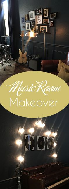 Great money-saving tips for creating a music room with a cool vibe and plenty of personal touches. Money Saving Tips, Murals, All Things, Photo Wall, Cool Stuff, Frame, Music, Projects, Room