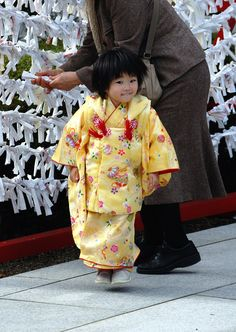"""Shichi-Go-San (七五三?, lit. """"Seven-Five-Three"""") is a traditional rite of passage and festival day in Japan for three- and seven-year-old girls and three- and five-year-old boys, held annually on November 15. As Shichi-Go-San is not a national holiday, it is generally observed on the nearest weekend."""