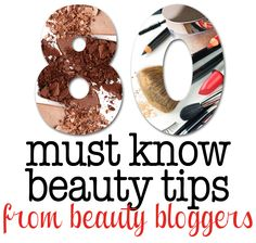 80 of the best #beauty tips ever!  Makeup, Skincare, Hair and Nail Tips from Beauty Bloggers.  I learned a lot!