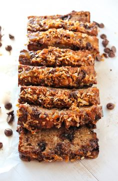 A super moist and indulgent banana bread loaded with chocolate chunks, coconut, and caramel - inspired by a classic Girl Scout cookie- Samoas!
