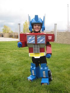 Kid Optimus Prime Transformers costume (diy! wow)