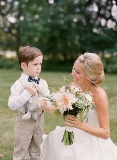 The cutest pouty ring bearer: http://www.stylemepretty.com/2016/04/18/a-rustic-wedding-at-the-grooms-family-farm/ | Photography: Elena Wolfe - http://elenawolfe.com/