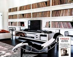 I one day am going to have a set up just like Gucci's Frida Giannini's living room with turntables and records displayed. #music #vinyl #interior #records