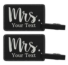 #Custom Last Name Mrs Name #Personalized #Laser #Engraved #Leather #Luggage #Tags #Personalized #luggage #tags are great #personalized couples gifts that can be used for years to come. #Custom #luggage #tags are a thoughtful #personalized wedding gift or #personalized anniversary gift. These #custom gifts are made to your exact specifications. All #personalized gifts ship within 2 business days or sooner. #Laser #engraved #luggage #tags are excellent travel gifts for women or
