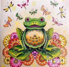 Finished Frog Coloring Page From Enchanted Forest