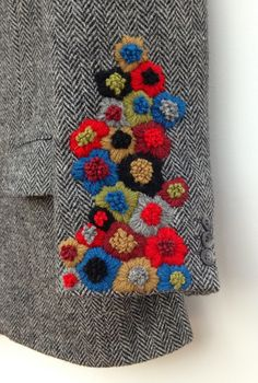 didyoumakeityourself: Embroidered Harris Tweed