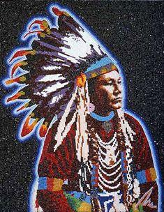 Man With No Name, 1995 Marcus Amerman (Choctaw Nation of Oklahoma) #beadwork