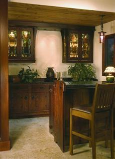 Craftsman Style Entertainment Room