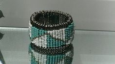 Turquoise safety pin bracelet