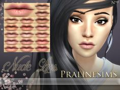 The Sims Resource: Nude Lips by Pralinesims • Sims 4 Downloads