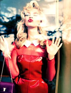 Model Chloe Hayward, photographer Ellen von Unwerth for Vogue, Italy, June 2013