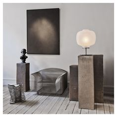 Interior design by Studio Oliver Gustav, Copenhagen, Denmark with How High the Moon-steel wire chair by Shiro Kuramata and a table lamp by Vincenzo De Cotiis / Oliver Gustav Pedestal, Vincenzo De Cotiis, Living Colors, Estilo Interior, Home Design, Interior Design, Luxury Interior, Room Interior, Home And Deco