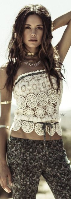 Anna Sui for ONeill Clothing. Hippie boho bohemian style. For more follow www.pinterest.com/ninayay and stay positively #pinspired #pinspire @ninayay