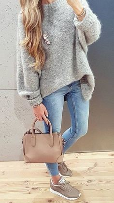 Gorgeous Fall Outfits To Stand Out From The Crowd Fall is here, and you& - Fall winter outfits - Casual Weekend Outfit, Casual Winter Outfits, Trendy Outfits, Fall Outfits, Winter Weekend Outfit, Casual Wear, Mode Outfits, Jean Outfits, Leather Outfits
