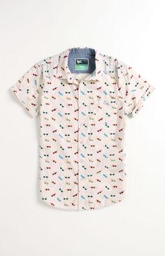 Modern Amusement Glasses Short Sleeve Woven Shirt #ModernAmusement #PacSun