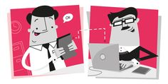Agency/Client Relationship by Billy Mawhinney, via Behance