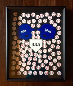 Baseball Themed Alternative Wedding Guest Book by Coastail on Etsy