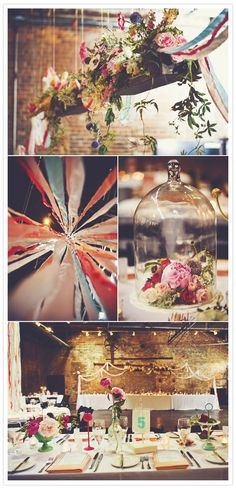 Love the colorful/rustic look of this wedding!