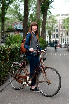 On a bike in Amsterdam