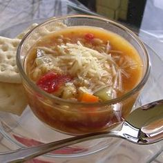 Beaker's Vegetable Barley Soup-uses hulled barley instead of pearl barley-better for you!