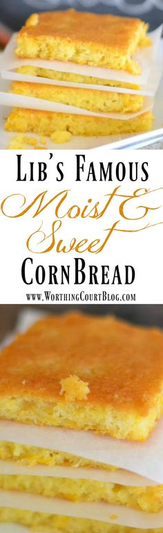 Here's a recipe for the best cornbread that you'll ever make! - Worthing Court