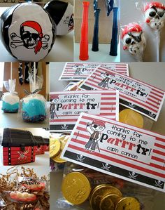 a ton of darling ideas for the cutest pirate party ever..............