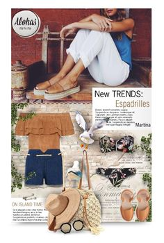 """""""Alohas Sandals #30"""" by thewondersoffashion ❤ liked on Polyvore featuring WALL, The Great, Deborah Lippmann, Seafolly, ále by Alessandra, Karen Walker, intermix, TheGreat, seafolly and newchic"""