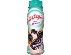 Cacique® Yogurt Smoothie – Prune with Cereal Mexican Cheese, Yogurt Smoothies, Horchata, Mexican Style, Cereal, Water Bottle, Drinks, Products, Drinking